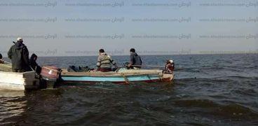 حملة إزالة التعديات على بحيرة البرلس