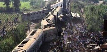 حاث تصادم قطارين في سوهاج