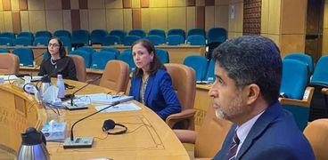 جانب من المؤتمر الصحفي لمنظمة الصحة العالمية