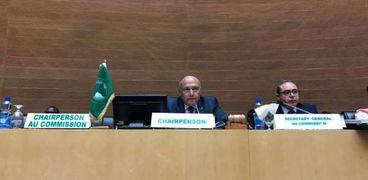 شكري خلال المشاركة في اجتماع الاتحاد الافريقي