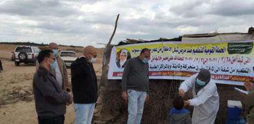 تطعيم أطفال البدو في الصالحية بالجرعة الثانية ضد «شلل الأطفال»