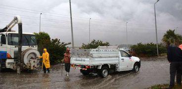 لليوم الثاني.. استمرار هطول الأمطار الغزيرة على محافظة الشرقية