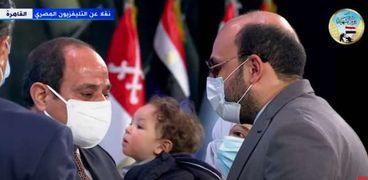 الرئيس عبدالفتاح السيسي  خلال احتفالية يوم الشهيد