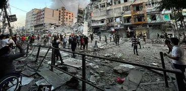 قطاع غزة بعد القصف