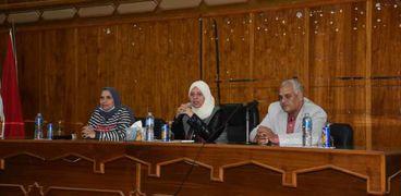 جانب من فعاليات ندورة مجمع الاعلام حول المرأة المصرية بحضور نائب محافظ مطروح