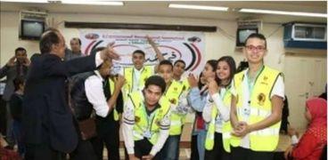 مدير جمعية «الباسط الرزاق» وفريق مساعدة المشردين فى منطقة السيدة زينب