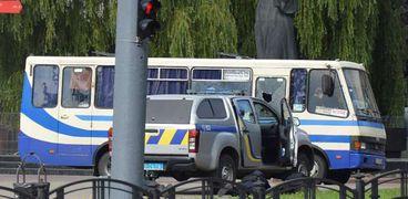 الحافلة الأوكرانية المختطفة