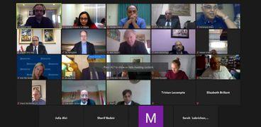 الاجتماع عبر الفيديوكونفرانس