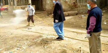 تعقيم كلية الزراعة وشوارع كفر الشيخ لمواجهة كورونا