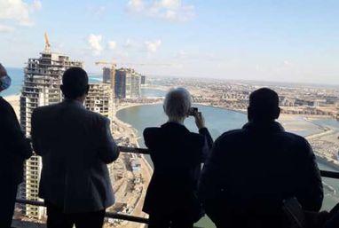 السفير الياباني بالقاهرة يقوم بزيارة ميدانية إلى مدينة العلمين الجديدة