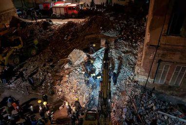 انهيار عقار مكون من 4 طوابق بالإسكندرية.. والدفع بـ4 سيارات إسعاف