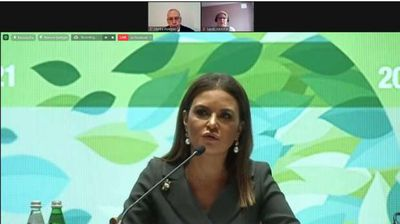 سحر نصر تشارك فى القمة المصرفية العربية الدولية 2021 فى إيطاليا