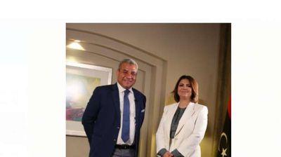 وزيرة الخارجية الليبيةنجلاء المنقوش