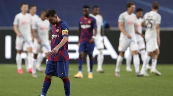 """لعنة """"الرقم 8"""" تحل على برشلونة في لقاء بايرن ميونخ"""