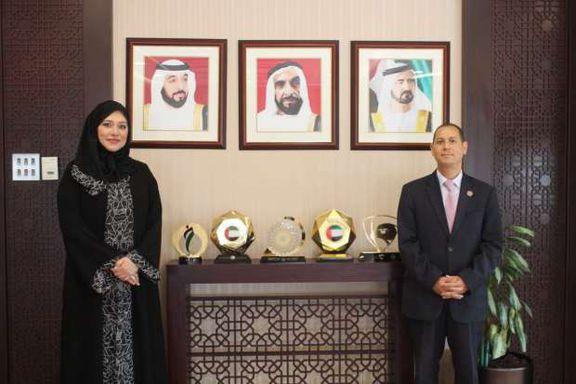 """د.""""عمران"""" يلتقى نظيرته الإماراتية خلال زيارته للإمارات"""