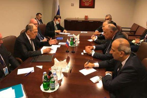 شكري ووزير الخارجية الروسي