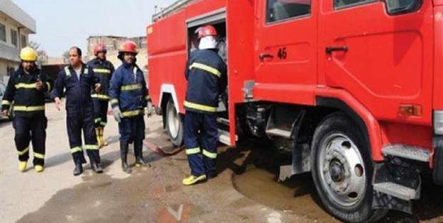 فرق الإطفاء تستعد للتعامل مع حريق شارع فلسطين ببغداد