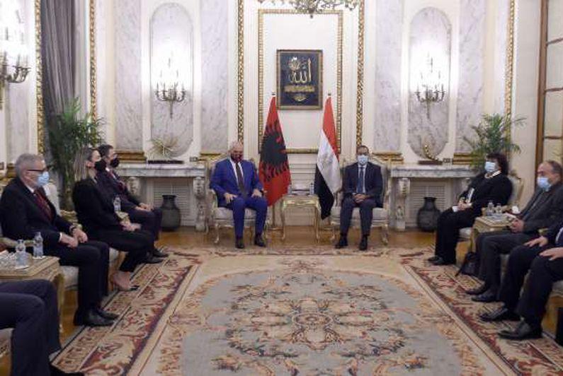 مباحثات مصرية ألبانية وتوقيع افاقيات ومؤتمر صحفي مشترك