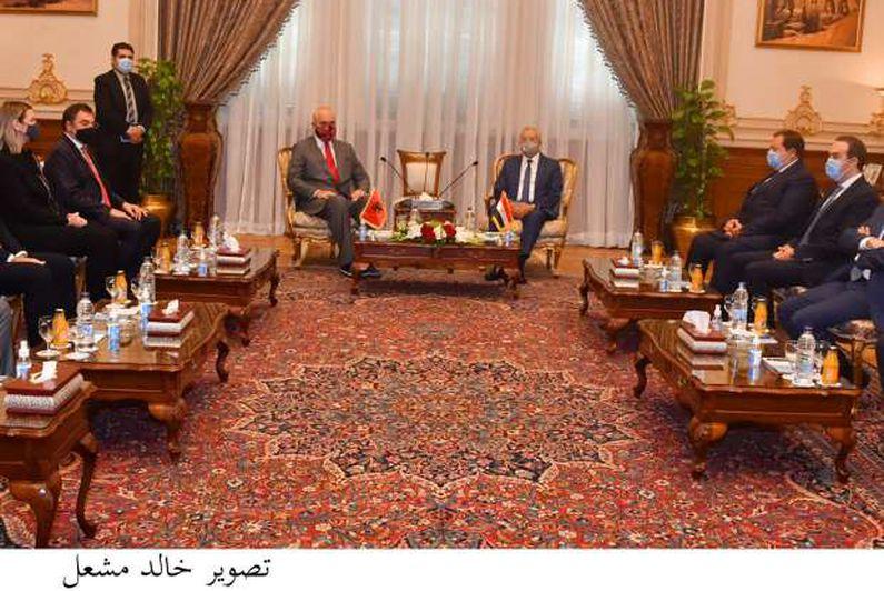 الدكتور حنفي جبالي رئيس مجلس النواب يلتقي إيدي راما رئيس وزراء ألبانيا