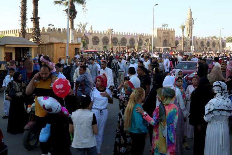 صلاة عيد الفطر المبارك بمسجد عمرو بن العاص