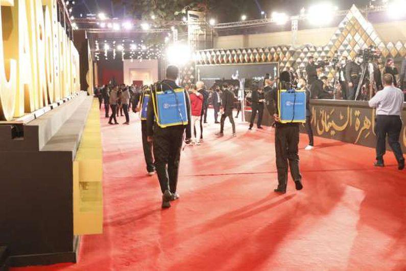 تعقيم كافة القاعات وصالات العرض خلال فعاليات مهرجان القاهرة السينمائي
