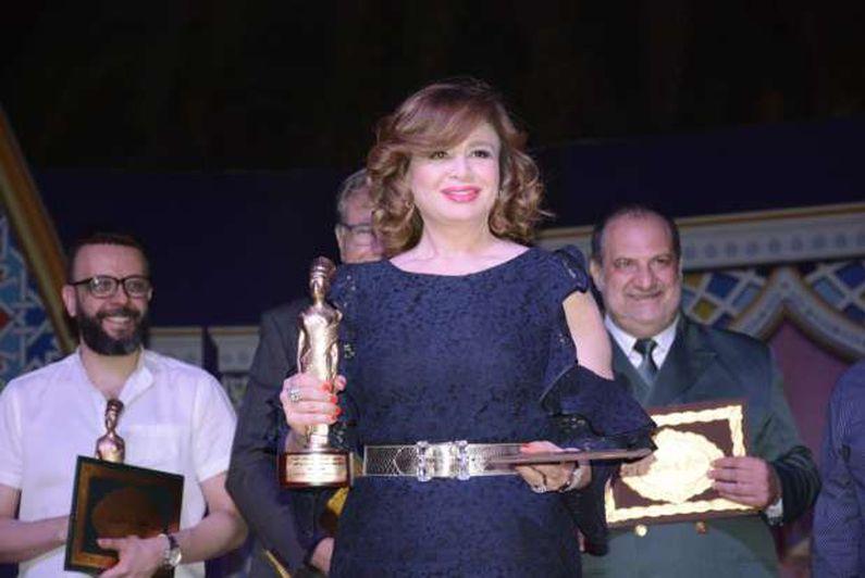 إلهام شاهين وخالد زكي وخالد الصاوي في حفل كتاب ونقاد السينما