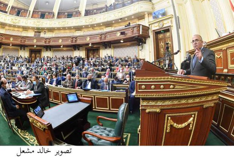 الجلسة العامة لمجلس النواب بحضور الدكتور محمد عبد العاطى وزير الموارد المائية