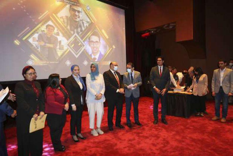 فعاليات حفل ختام مهرجان المنصورة الرقمى الثاني لطلاب الجامعات المصرية