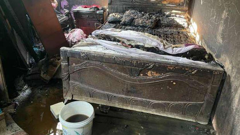 حريق أبو تمادة في كفر الشيخ