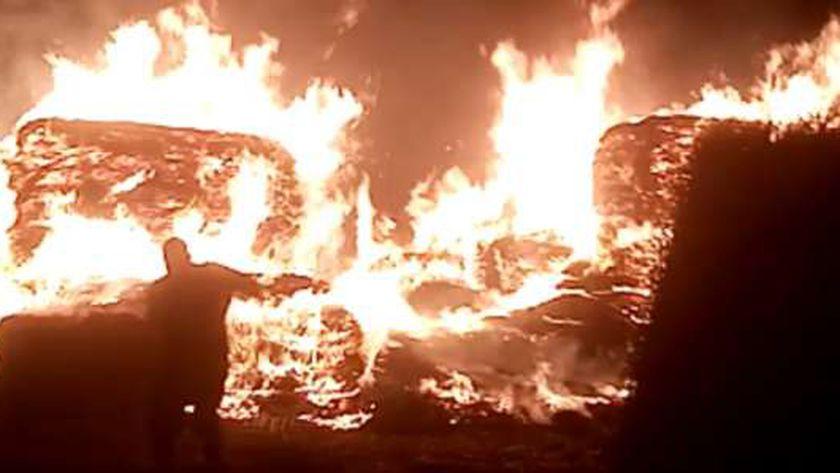 حريق بمزرعة في العياط