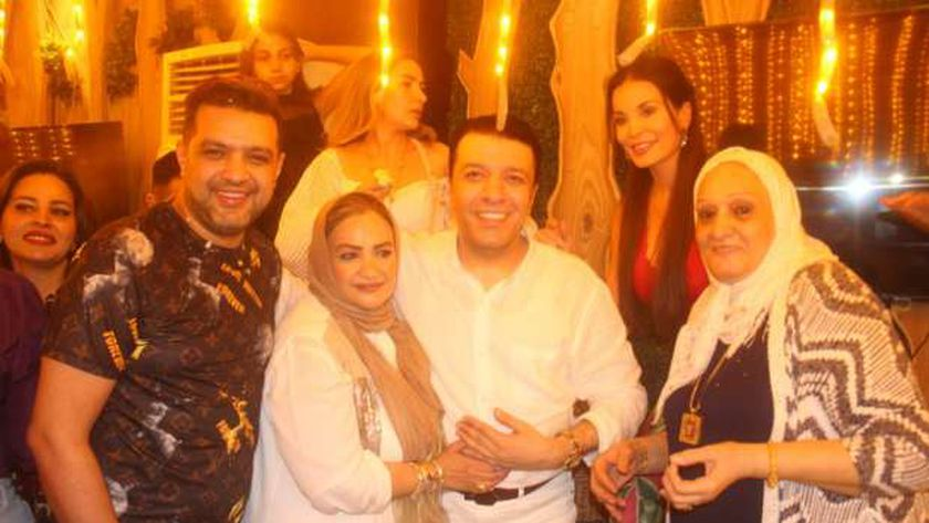 مصطفى كامل في حفل عيد ميلاده