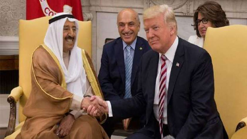 دونالد ترامب والشيخ صباح الأحمد