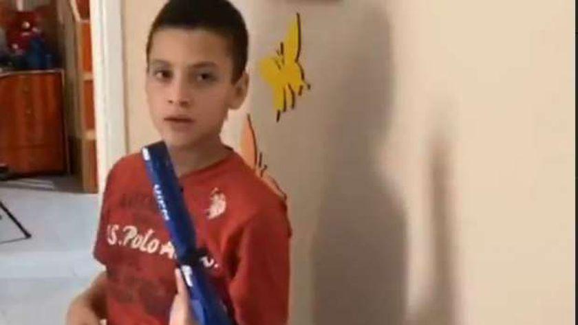 حمزة منسي خلال مشاركته في بطولة الليزر رن