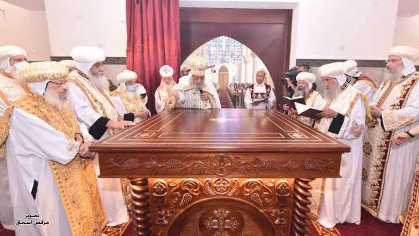 البابا خلال طقس التدشين