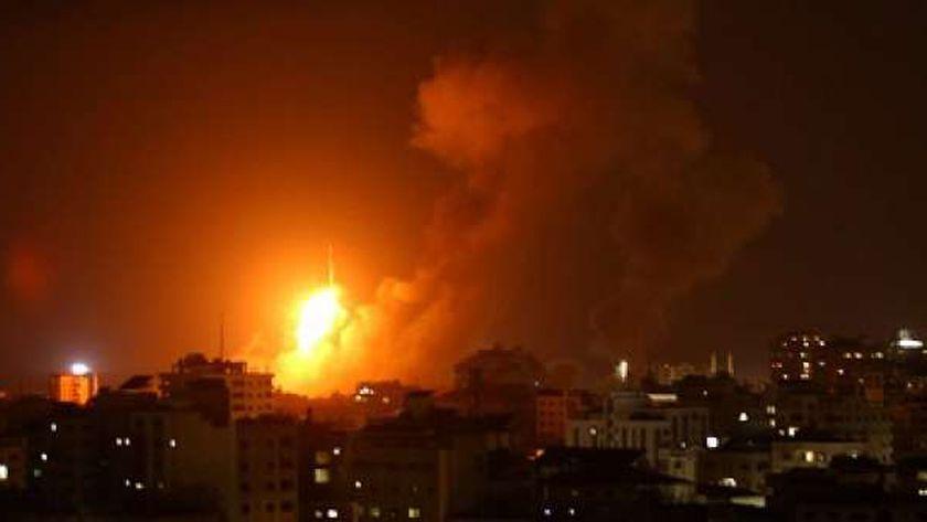 غارة إسرائيلية على قطاع غزة الفلسطيني
