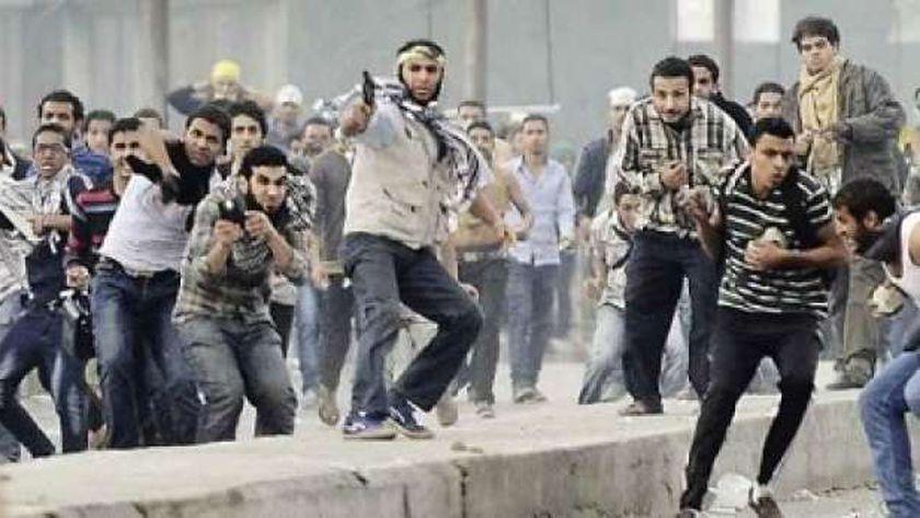 عناصر إخوانية خلال أعمال عنف عقب فض اعتصام رابعة المسلح - صورة أرشيفية