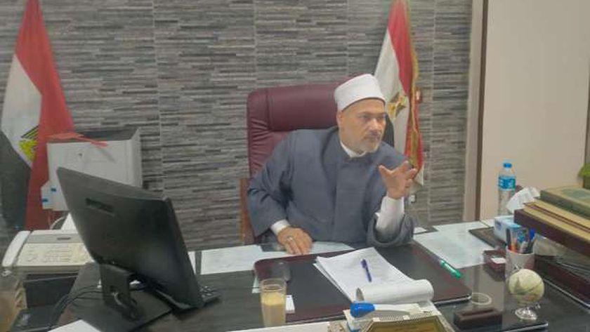 وكيل وزارة الأوقاف خلال الإجتماع