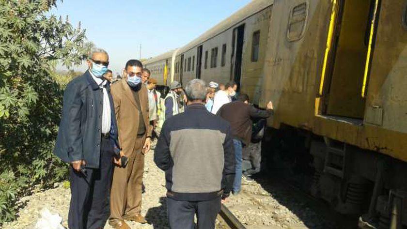 انتظام حركة سير القطارات بعد السيطرة على حادث خروج عربة قطار عن القضبان دون وقوع اية خسائر