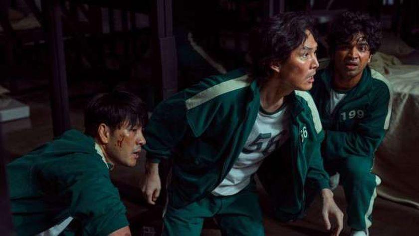 مشهد من مسلسل لعبة الحبار