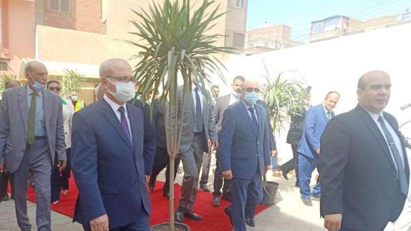وزير العدل ومحافظ القليوبية يفتتحان محكمة طوخ