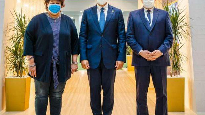 صورة خلال مشاركتهم بمعرض السوق السياحية بدبي.. 3 وزراء في مهمة رسمية – مصر