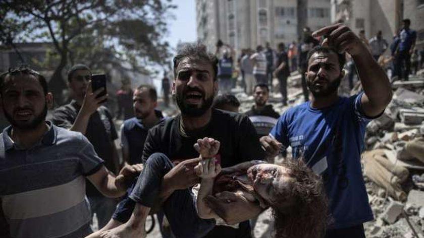 جانب من الاعتداءات الصهيونية بقطاع غزة المحاصر