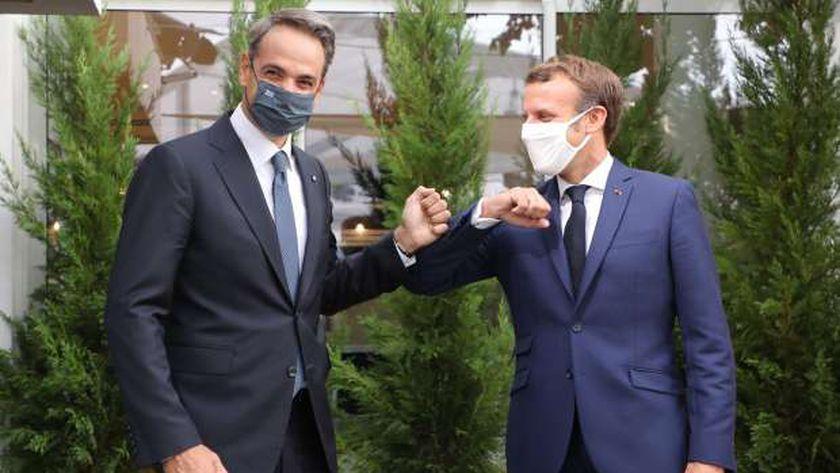 الرئيس الفرنسي ورئيس الوزراء اليوناني