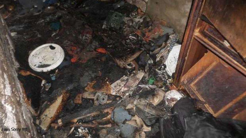 صورة أرشيفية-حريق بمنزل