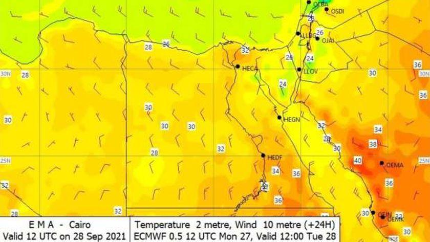 خرائط الطقس