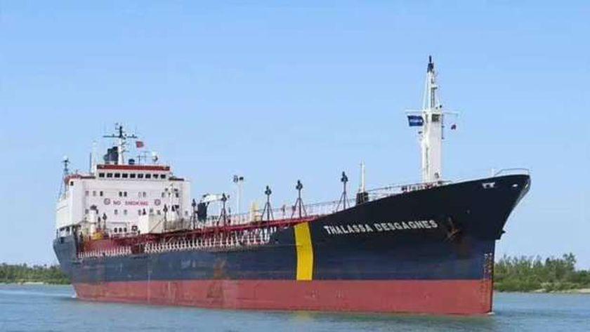 السفينة التى تعرضت للخطف قبالة ساحل الإمارات