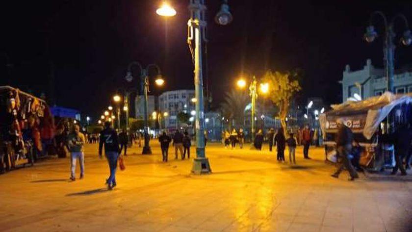 ميدان محطة مصر فارغ من الباعة الجائلين