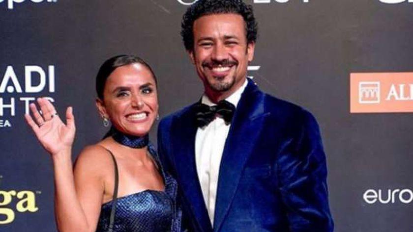 أحمد داوود وزوجته علا رشدي في مهرجان الجونة