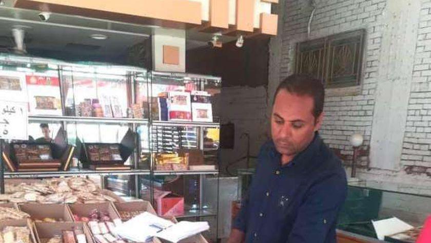 شادر  لبيع حلوي المولد في المنوفية