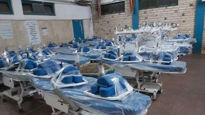 أجهزة غسيل كلوي وأسرة دعم من صندوق تحيا مصر لصحة الغربية